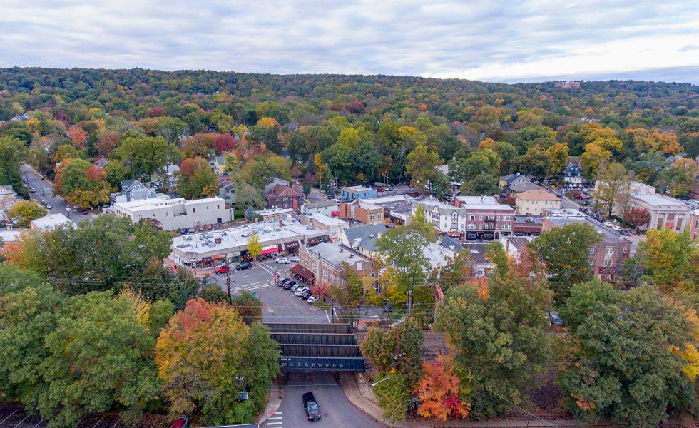 Aerial photo of Maplewood Village